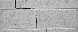 Cracked basement wall